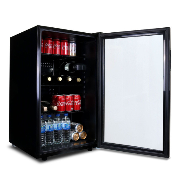 SIA DC1BL 50cm Freestanding 126L Under Counter Drinks Fridge, Beer  & Wine Cooler