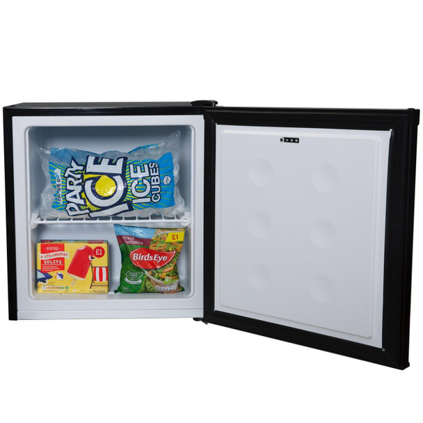 SIA TT02BL 40 Litre Black Counter Table Top Mini Freezer With A+ Energy Rating