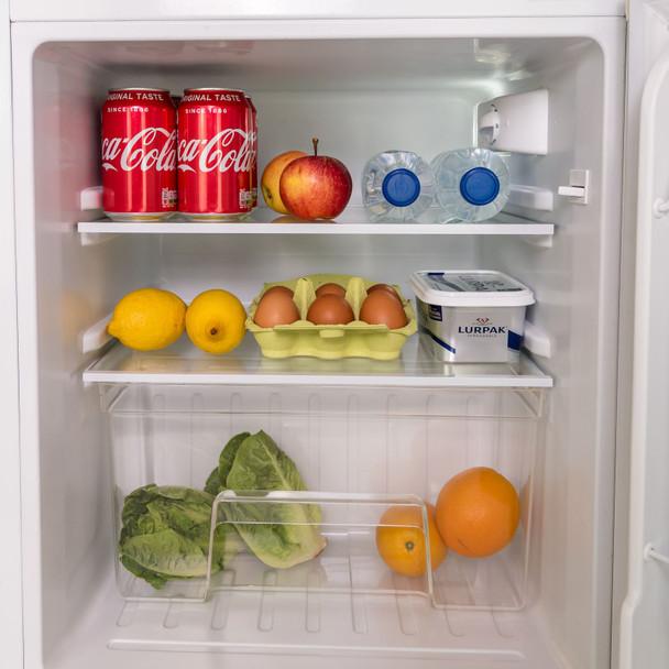 SIA UFF01WH 88L White Freestanding Under Counter 2 Door Fridge Freezer A+ Energy