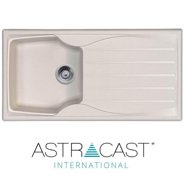 Astracast Sierra 1.0 Bowl Reversible Cream Kitchen Sink And Waste Kit