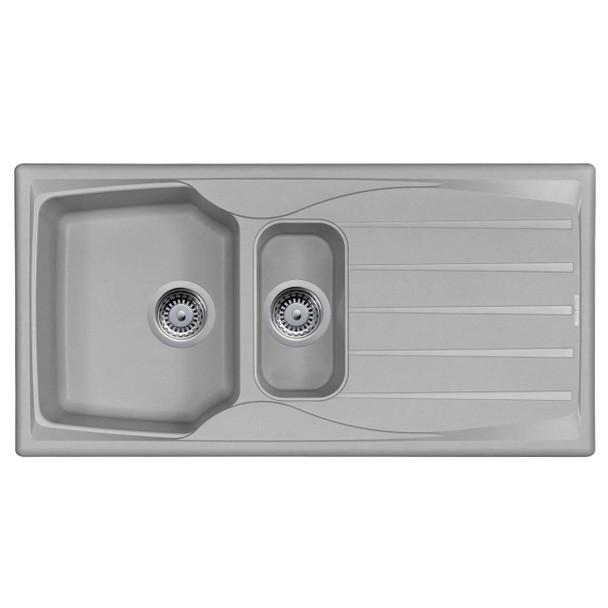 Astracast Sierra 1.5 Bowl Reversible Light Grey Kitchen Sink And Waste Kit