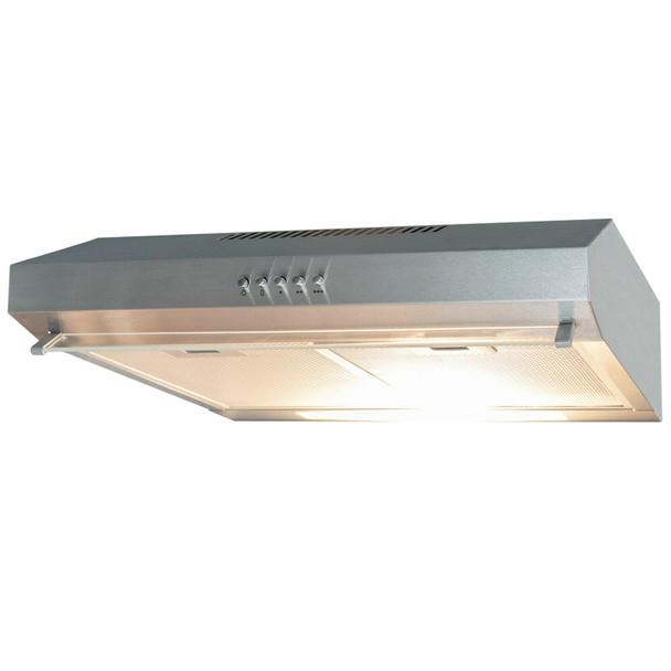 SIA 30cm Stainless Steel 2 Burner Gas Hob & 50cm Visor Cooker Hood Extractor Fan