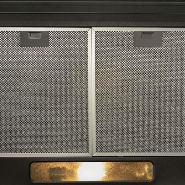 SIA 30cm Black 2 Burner Gas On Glass Hob & 50cm Visor Cooker Hood Extractor Fan