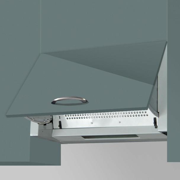 SIA 30cm Domino Black 2 Burner Gas On Glass Hob And 60cm Integrated Cooker Hood