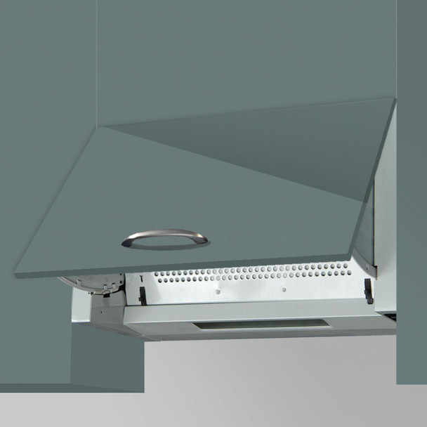 SIA 30cm Stainless Steel 2 Zone Electric Plate Hob And 60cm Integrated Extractor