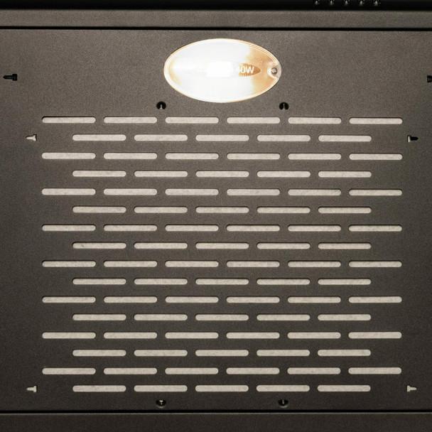 SIA 30cm Black 2 Zone Electric Domino Induction Hob & 60cm Visor Cooker Hood Fan
