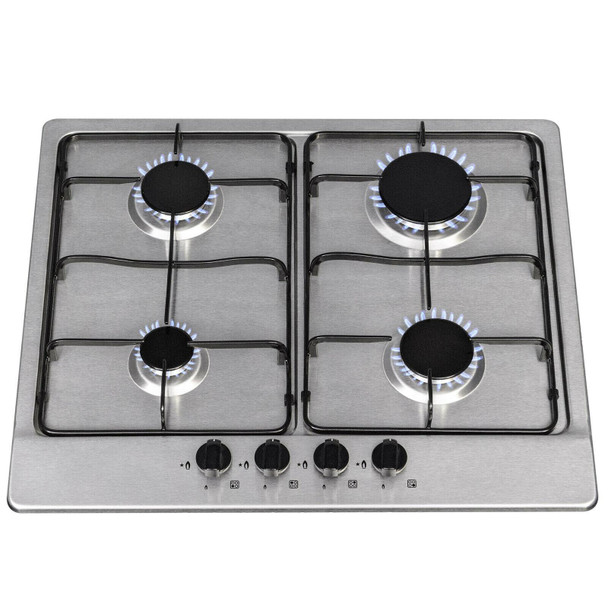 SIA 60cm Touch Control Single True Fan Oven, 4 Burner Gas Hob & Cooker Hood Fan