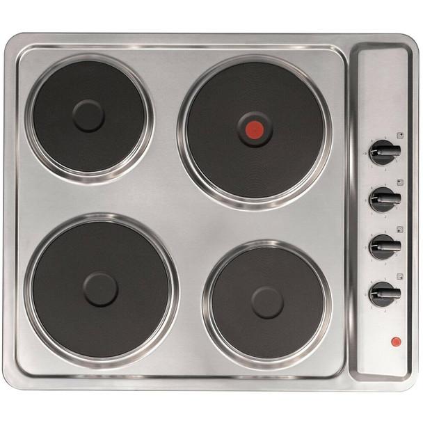 SIA 60cm True Fan Single Electric Oven, 4 Zone Plate Hob & Visor Cooker Hood Fan