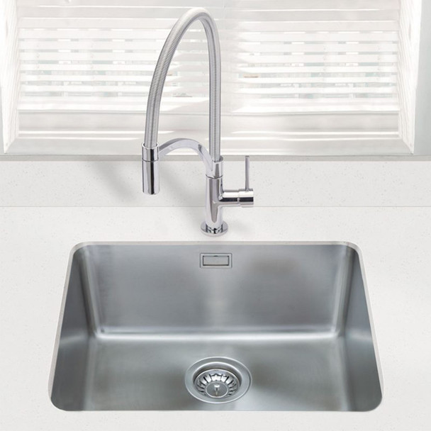 SIA 1.0 Bowl Stainless Steel Undermount Kitchen Sink With Waste Kit W530xD450mm