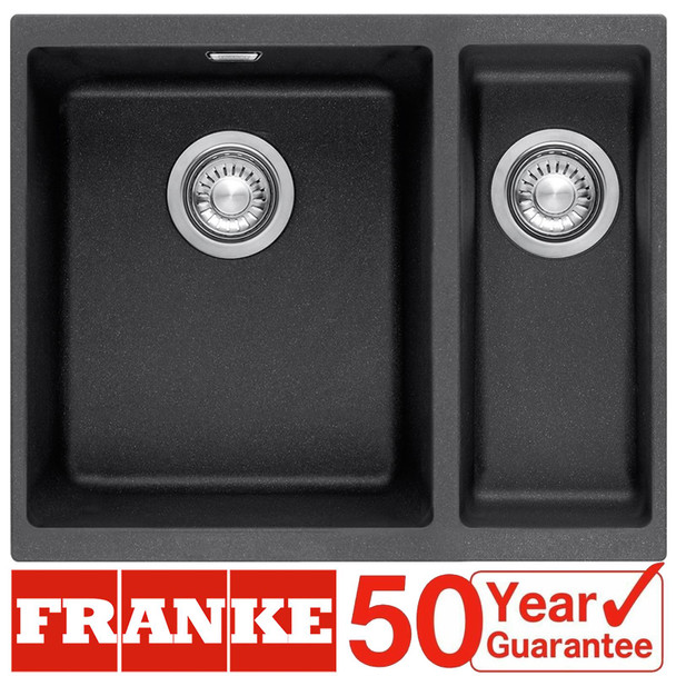 Franke SID 160 1.5 Bowl Carbon Black Tectonite Undermount Kitchen Sink And Waste