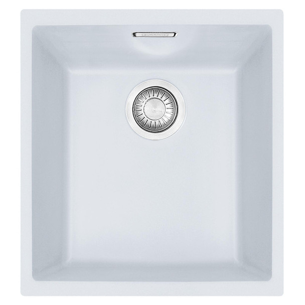 Franke SID 110-34 1.0 Bowl Polar White Tectonite Undermount Kitchen Sink & Waste
