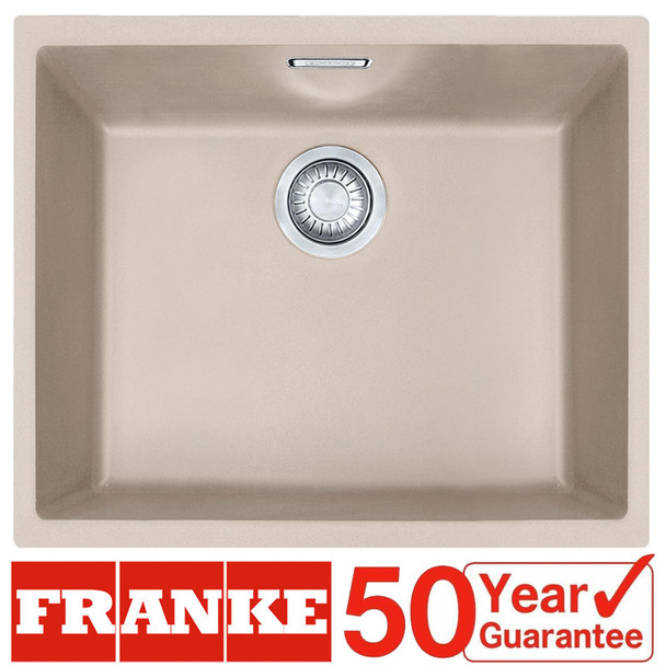 Franke SID 110-50 1.0 Bowl Coffee Tectonite Undermount Kitchen Sink & Waste Kit