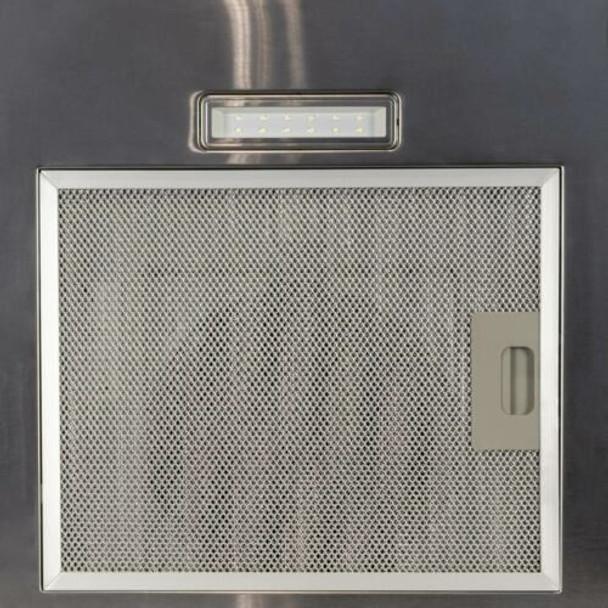 SIA FL70SS 70cm Flat Glass Stainless Steel Chimney Cooker Hood Fan & 3m Ducting