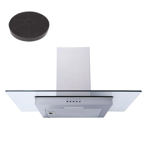 SIA FL70SS 70cm Flat Glass Stainless Steel Chimney Cooker Hood Fan And Filter