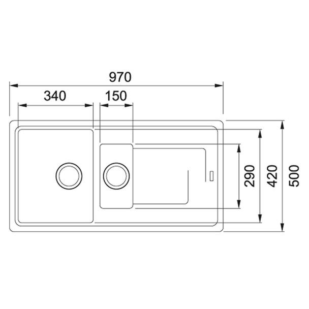 Franke Gemini 1.5 Bowl Black Tectonite Kitchen Sink & Reginox Astoria Mixer Tap