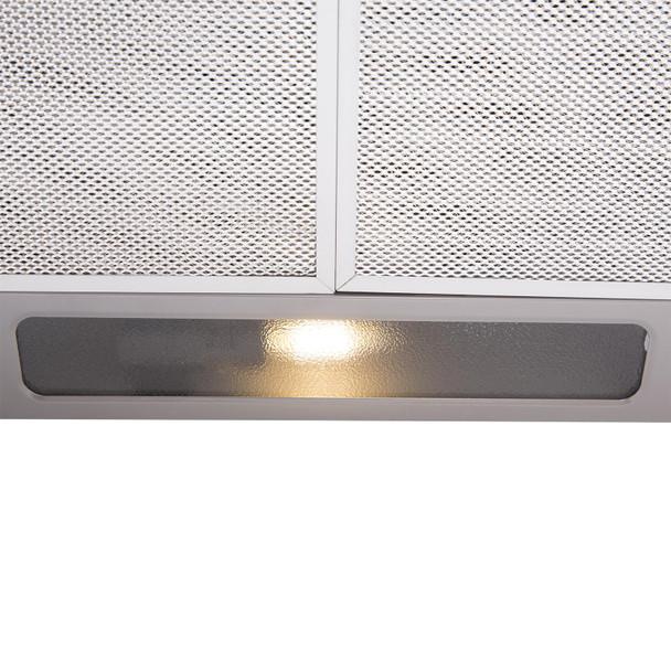 SIA STH50SI 50cm Silver Slimline Visor Cooker Hood Extractor Fan & Carbon Filter