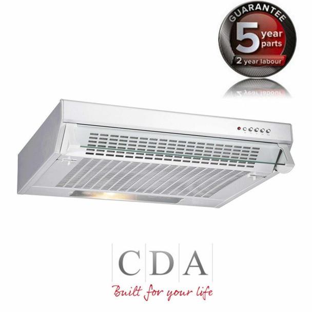 CDA CST61WH 60cm Traditional Slimline Visor Cooker Hood Extractor Fan In White