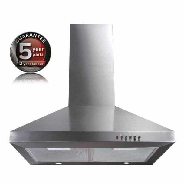 CDA ECH61SS 60cm Stainless Steel Chimney Cooker Hood Kitchen Extractor Fan