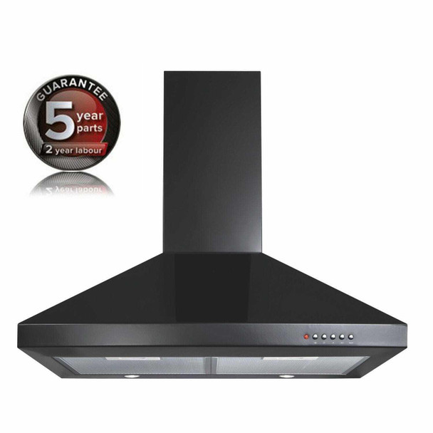 CDA ECH71BL 70cm Black 3 Speed Chimney Cooker Hood Kitchen Extractor Fan
