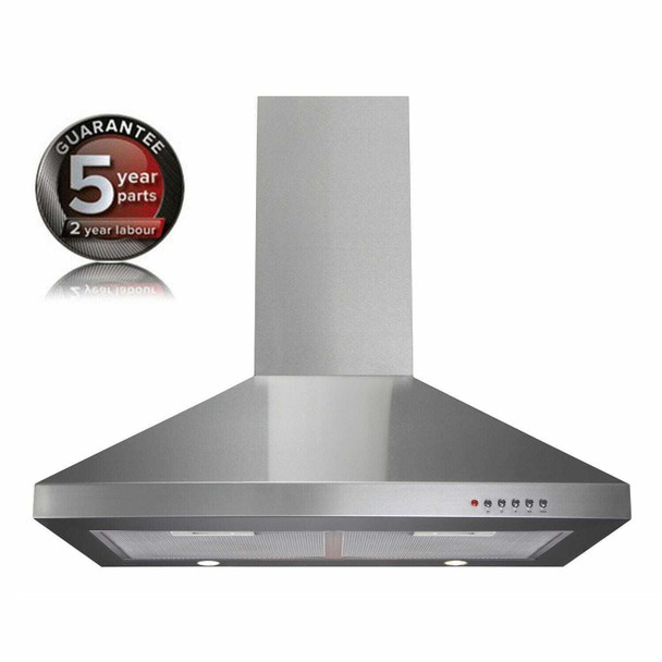 CDA ECH71SS 70cm Stainless Steel Chimney Cooker Hood Kitchen Extractor Fan