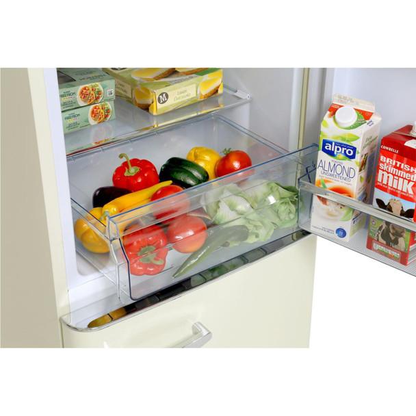 Amica FKR29653C 55cm Cream 60/40 Retro Style Freestanding Tall A+ Fridge Freezer