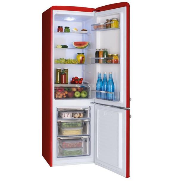 Amica FKR29653R 55cm Red 60/40 Retro Style Freestanding Tall A+ Fridge Freezer