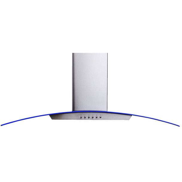 SIA 100cm 3 Colour LED Edge Lit Curved Glass Cooker Hood Fan in Stainless Steel
