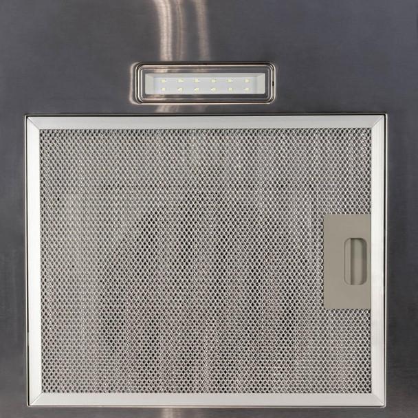 SIA FL60SS 60cm Flat Glass Stainless Steel Chimney Cooker Hood Fan & 1m Ducting