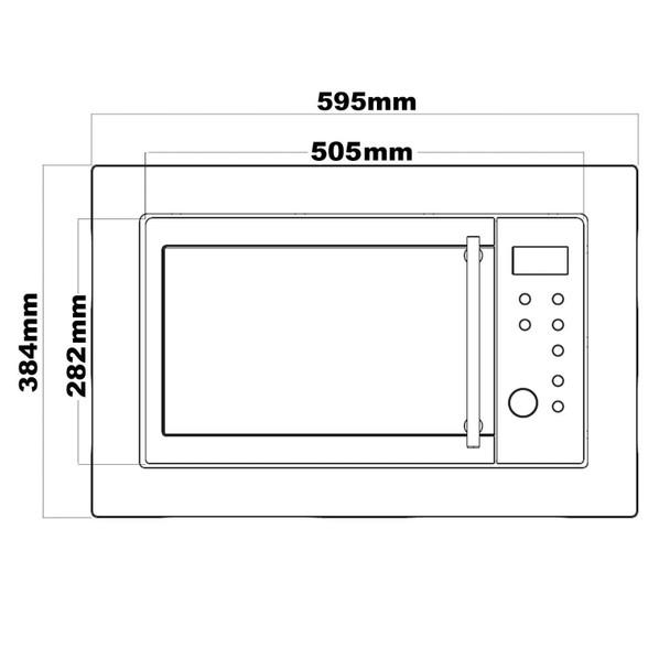 SIA BIM25BL Black 25L Integrated Built in 900W Digital Timer Microwave Oven