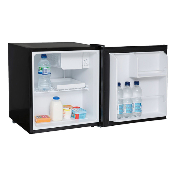 SIA Table Top Mini Beer, Drinks Fridge And Freezer Pack In Black  A+ Rated