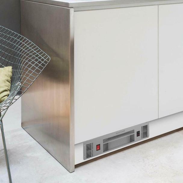 SIA PLH1 2kW Stainless Steel Slimline Electric Kitchen Plinth Heater