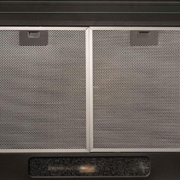 SIA 60cm 4 Zone Black Solid Plate Hob & Slimline Visor Cooker Hood Extractor Fan
