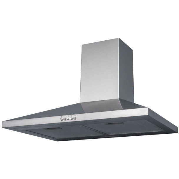 SIA CHL60SS 60cm Stainless Steel Chimney Cooker Hood Extractor And Carbon Filter