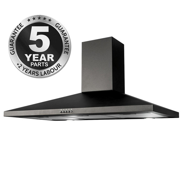 SIA CHL90BL 90cm Black Pyramid Chimney Cooker Hood Kitchen Extractor Fan