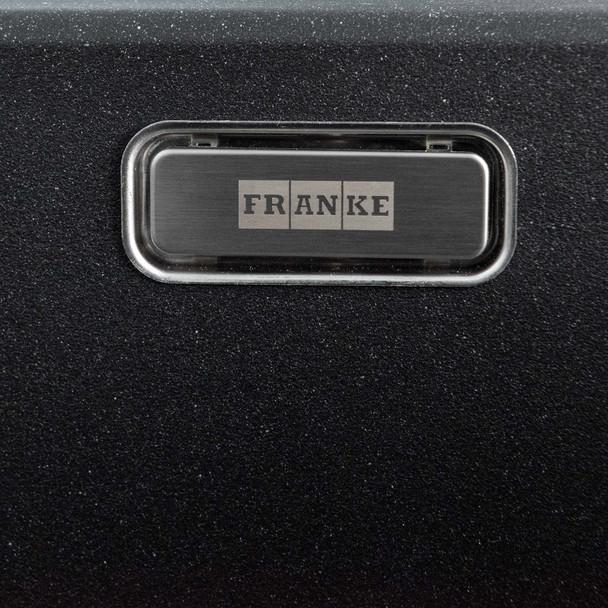 Franke Aveta 1.5 Bowl Black Tectonite Kitchen Sink & Black Twin Mixer Tap