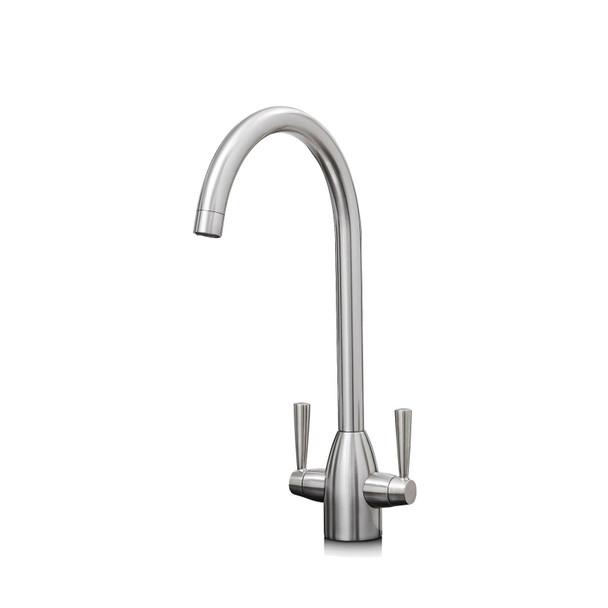 Franke Aveta 1.5 Bowl Black Tectonite Kitchen Sink & Brushed Nickel Mixer Tap