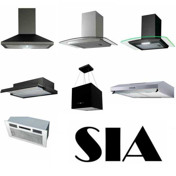 4 x SIA2 Genuine Carbon Re-circulation Filter For SIA Cooker Hood Extractor Fans