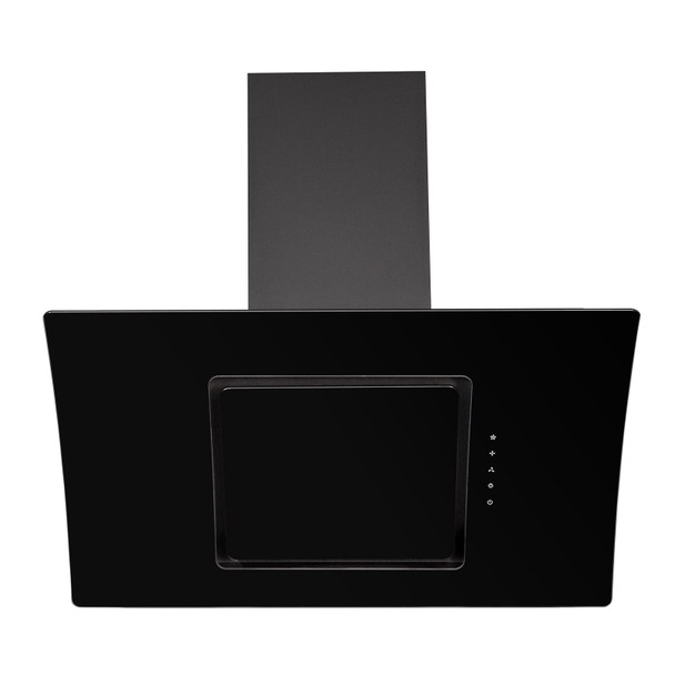 SIA AT91BL 90cm Touch Control Black Angled Glass Cooker Hood Extractor Fan