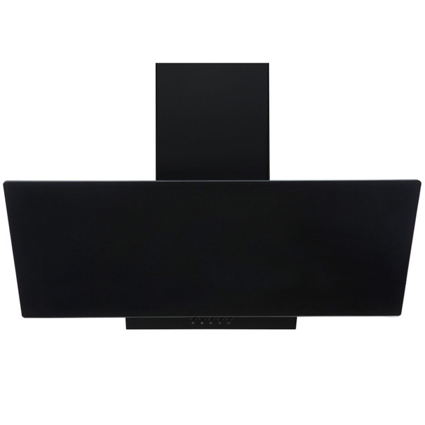 SIA EAG91BL Black 90cm Angled Glass Chimney Cooker Hood Kitchen Extractor Fan