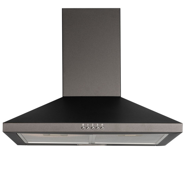 SIA CHL70BL 70cm Chimney Cooker Hood Extractor Fan In Black With Carbon Filter