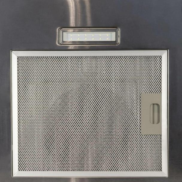 SIA FL70SS 70cm Flat Glass Stainless Steel Chimney Cooker Hood Extractor Fan