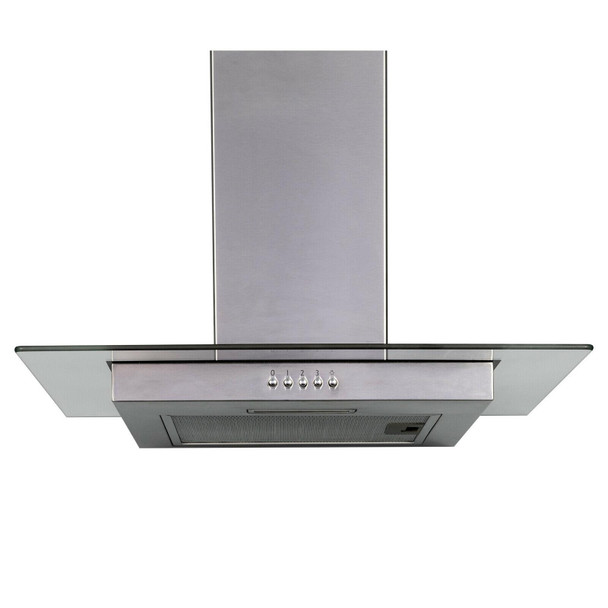SIA FL70SS 70cm Flat Glass Stainless Steel Chimney Cooker Hood Extractor Fan