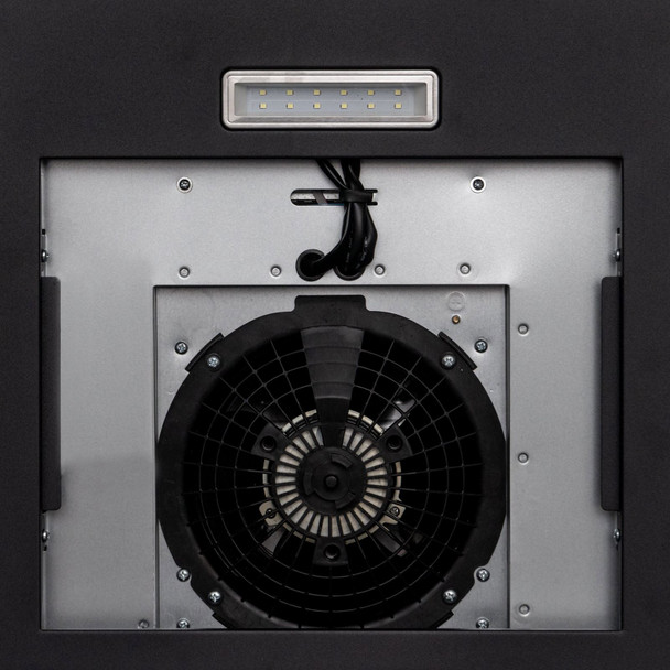 SIA CGH80BL 80cm Curved Glass Black Cooker Hood Extractor Fan And Carbon Filter