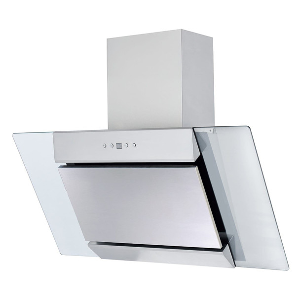 SIA 90cm Stainless Steel Angled Chimney Cooker Hood Kitchen Extractor Fan