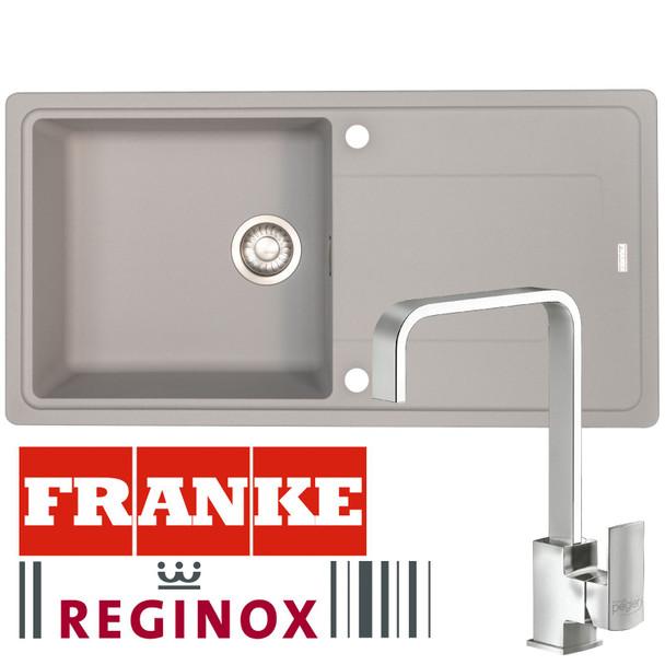 Franke Gemini 1 Bowl Grey Tectonite Kitchen Sink And Reginox Astoria Mixer Tap