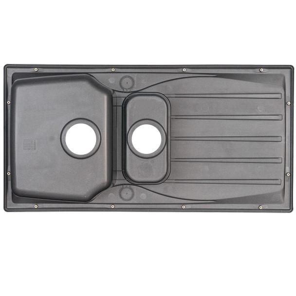 Astracast Sierra 1.5 Bowl Graphite Grey Kitchen Sink And Franke Zeno Mixer Tap
