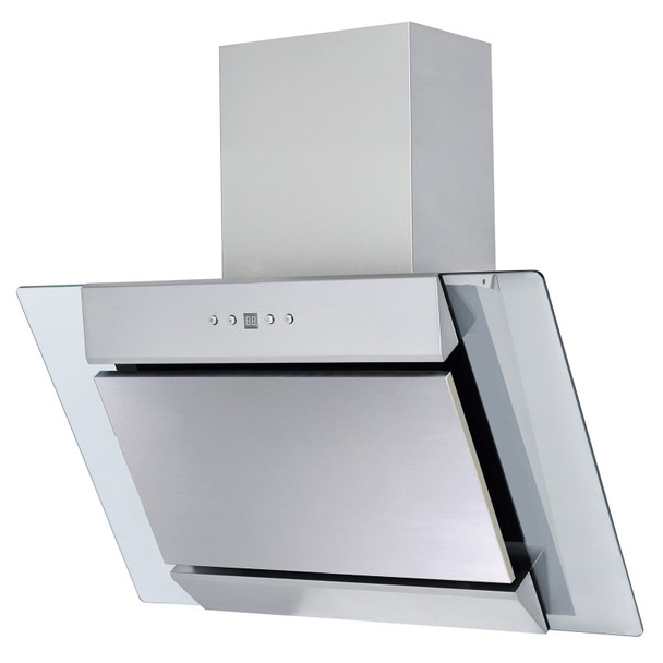 SIA AGL61SS 60cm Angled Stainless Steel Chimney Cooker Hood Extractor Fan