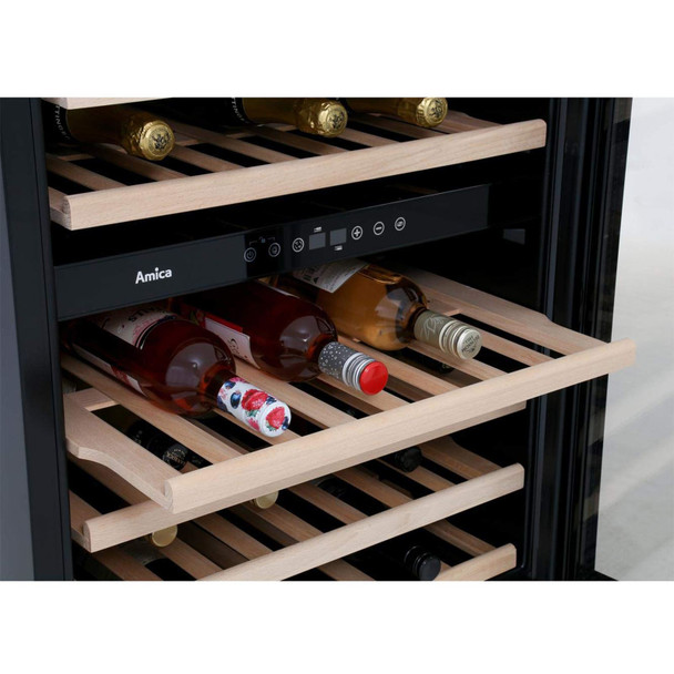 Amica AWC600SS 60cm Stainless Steel Free Standing Under Counter LED Wine Cooler