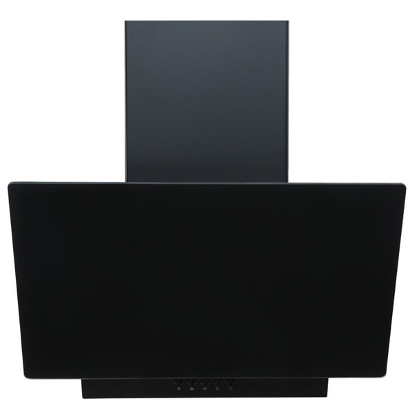 SIA EAG71BL 70cm Black Angled Glass Chimney Cooker Hood Kitchen Extractor Fan