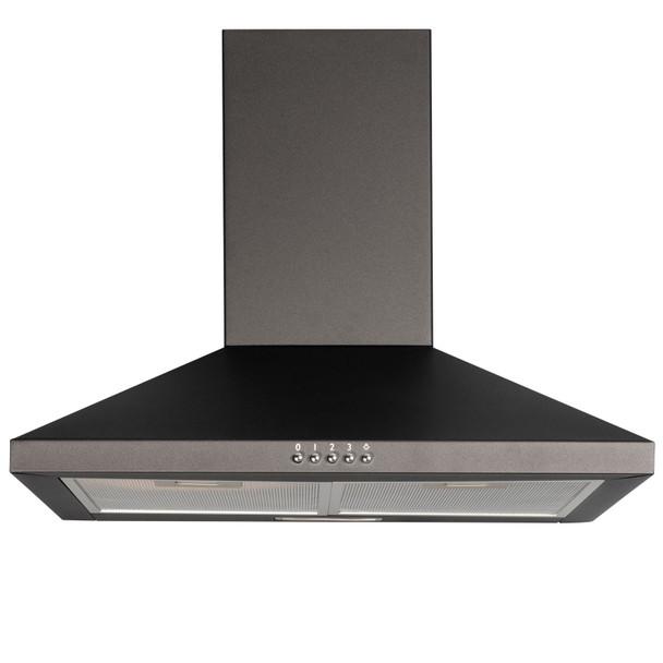 SIA 60cm Black Double True Fan Electric Oven, 4 Burner Gas Hob & Cooker Hood Fan